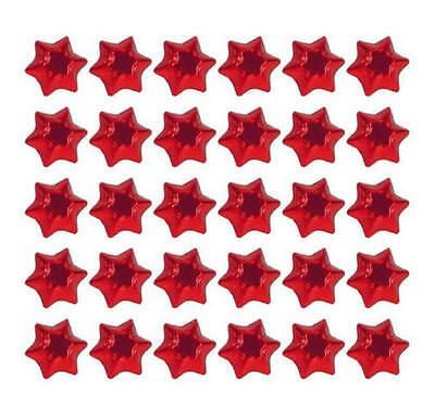 100 Red Foil Milk Chocolate Stars-Wedding Christmas Favours Kids Birthday Party