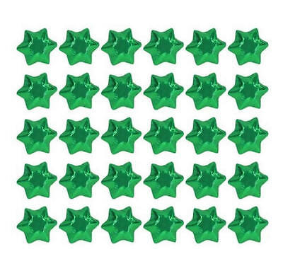 100 Green Foil Chocolate Stars - Christmas Wedding Favours Parties Candy Buffet