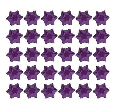 100 Purple Foil Chocolate Stars - Wedding Parties Favours Christmas Candy Buffet