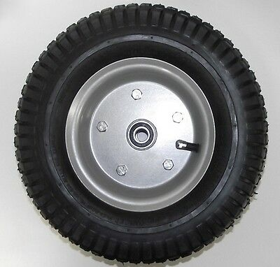 "12"" x 4"" Pneumatic Wheel 5/8"" Axle Use For Hand Truck Wheelbarrow ETC. 1007"
