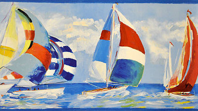 DLR53572B Regatta Border Nautical Travel Wallpaper Border