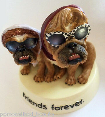NEW Ladies Buddy Love Collectible Zelda Wisdom BULLDOGS Figurine Friends Forever