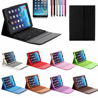 Wireless Bluetooth Keyboard Leather Case Cover For Apple iPad Air 2nd 1st Gen