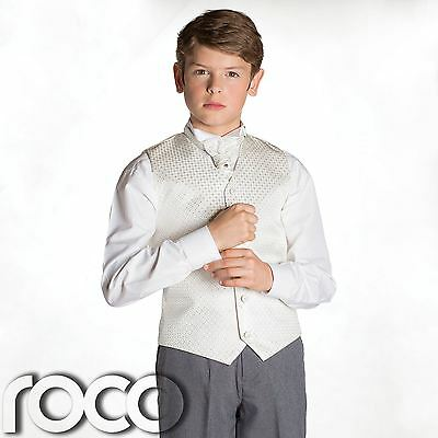 Boys Ivory & Grey Waistcoat Suit, Page boy Suits, Boys Wedding Suits, Boys suits
