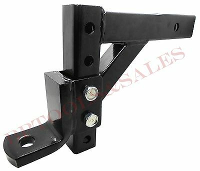 "10"" Hitch Ball Mounting Adjustable Hitch Drop Ball Mount 2"" Trailer Receiver NEW"