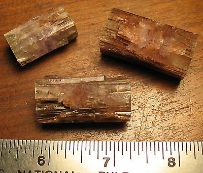 Three Fine Large Old Aragonite Crystals from Spain