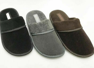 Soft Furry Fluff Warm Comfy Men Corduroy Winter Slippers Home Indoor Shoes 66628