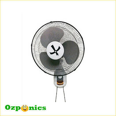 Growlite High Quality Hydroponics 400Mm 3 Speed Wall Fan With Stand