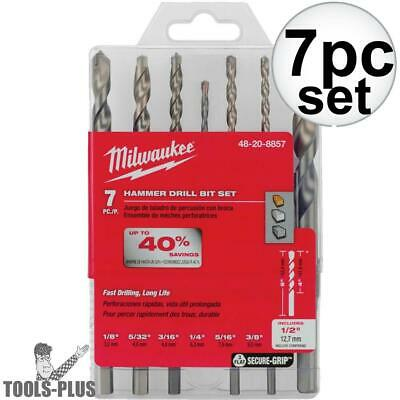 Milwaukee 7pc Hammer Drill Carbide Bit Kit 48-20-8857 New