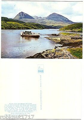 CPSM postcard loch Queen of KYLESKU car FERRY and QUINAG Sutherland Scotland A