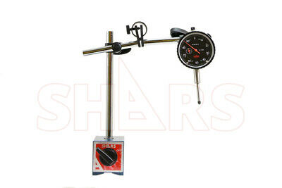 "SHARS Magnetic Base Holder Stand Fine Adjustment w/ 1"" Dial Indicator NEW"