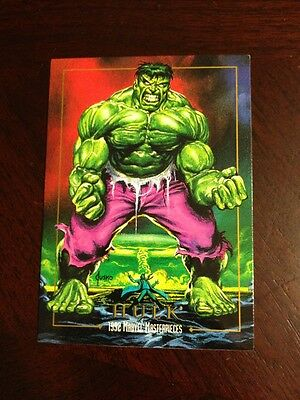 1992 Marvel Masterpiece - Hulk card