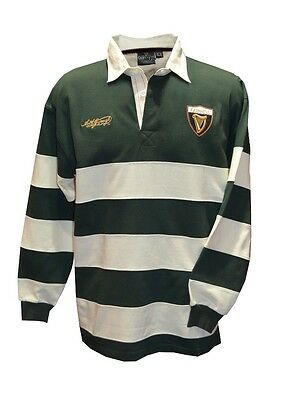 Guinness Rugby Shirt Bottle/Cream  Long Sleeve  100% Cotton  (S-XXL)