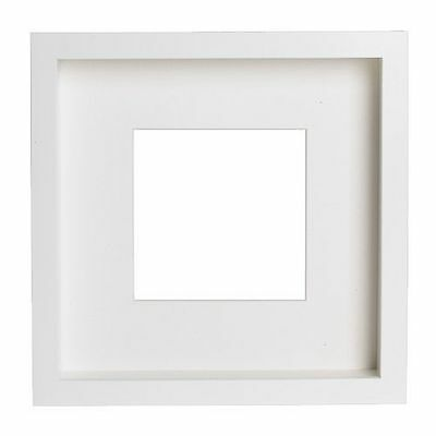 IKEA RIBBA Square Photo Picture Deep Frame with mat - Black White 000.780.32