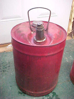 Bs4 Vintage Mobil Gas & Oil Company 6 Gallon Can  Advertising