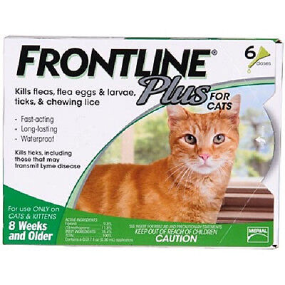 Frontline Plus for Cats 6 Month Supply