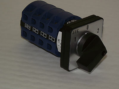 Rotary Cam Switch 3 Position Change Over  25, 32 Or 63Amp 4Pole  Panel Mount