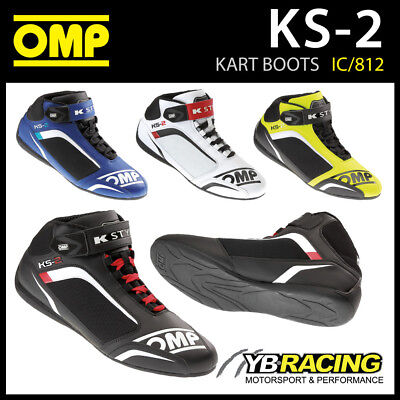 SALE! IC/812 OMP KS-2 KS2 KART KARTING BOOTS MICROFIBRE FABRIC in 4 COLOURS