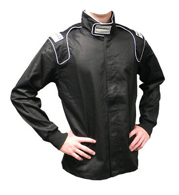 ULT 30151 Black 2X-Large Single Layer Race Driving Fire Suit Jacket SFI Rated