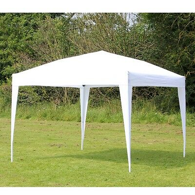 Palm Springs 10ft x 10ft White Pop Up EZ Set Up Canopy Gazebo Party Tent