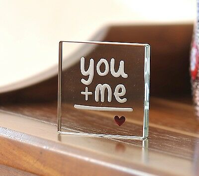 Spaceform Glass Miniature Token You And Me Love Heart Valentines Day Gift 1838
