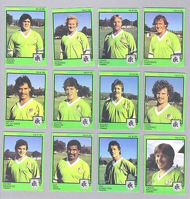 1982   Canberra  Raiders  Scanlens Rugby League Cards