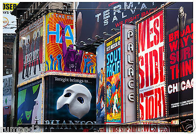 New York Broadway Poster//Sketch//Illustration of Broadway//17x22 inch