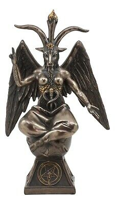 "9.5""H Baphomet Statue Figurine The Sabbatic Goat Templar Idol Occult Satanism"