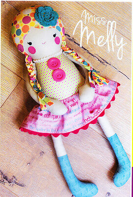 PATTERN - Miss Melly- cute & easy cloth doll PATTERN - Melly & Me