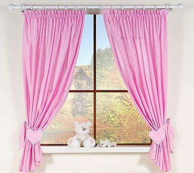 Lovely  Decorative Window Curtains For Baby's Room In Pink