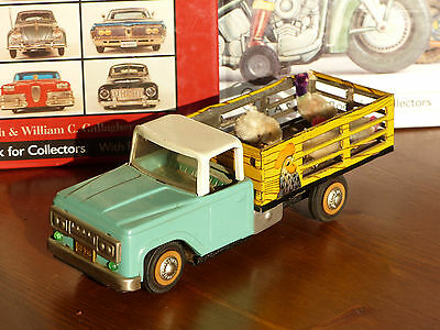 #Antique Red China Tin Toy# MF 985 Car Chicken Farm Truck Dongfeng ME MS
