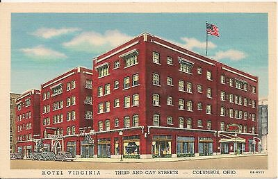 Hotel Virginia Columbus OH Postcard