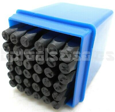 36Pc 4MM Letter & Number Stamp Set A-Z, 0-9 Punches Metal Plastic Leather Wood