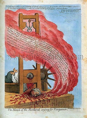 GILLRAY James Blood Murdered Crying For Vengeance artista quadro dipinto a olio