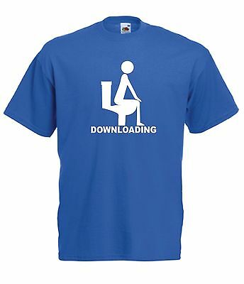 DOWNLOADING funny gift NEW Men Women T SHIRT TOP size 8 10 12 14 16 s m l xl xxl
