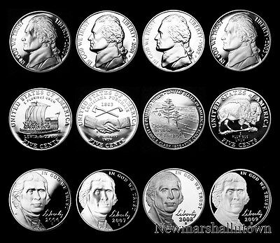 2000 2001 2002 2003 2004 2005 2006 2007 2008 2009 S Jefferson Mint Proof Set