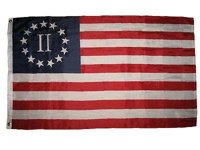Historical Betsy Ross Nyberg II 2 percent Flag Super Poly 3x5 Flag Banner