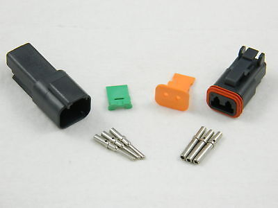 deutsch dt series 2 pin connector kit 16 20 awg • 10 50 picclick black deutsch 2 pin dt series connector kit 18 16 awg