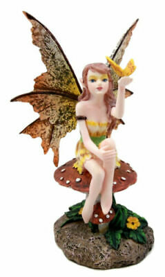 Amy Brown Collectible Golden Butterfly Wishful Fairy Statue Faerie Figurine