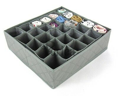 Periea 30 Cell Bedroom Underwear Drawer Organiser for Socks, Ties, Jewellery