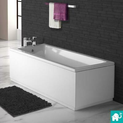 1600mm Square Single End Modern Straight Bath White Bathroom Bathtub BB40