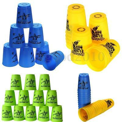 Set 12pcs Speed Stacks Sport Flying Stacking Rapid Luminous Cups Christmas Gift