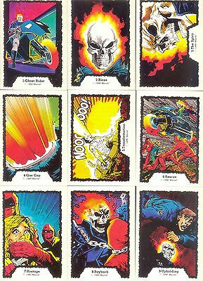 Ghost Rider 1990 Comic Images Complete Base Card Set Of 45 Marvel