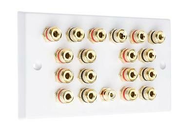 9.1 White Speaker Audio Wall Face Plate Solder-less
