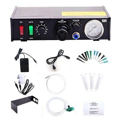 110V Solder Paste Dropper Controller Glue Liquid Adhesive Dispenser Free Ship