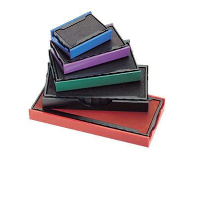 Traxx Rubber Stamp Replacement Inkpads BLACK RED BLUE GREEN VIOLET DRY