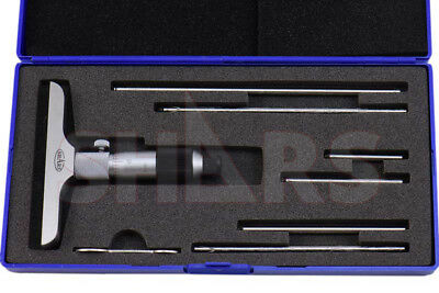 "SHARS TOOLS 0 - 6"" DEPTH MICROMETER 4"" Base NEW"