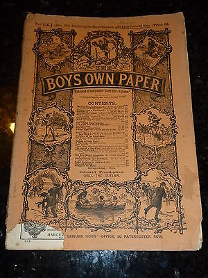 BOY'S OWN PAPER Comic - Part 146 - Vol XIII - Nos 634 too 637 - Date - 04/1891