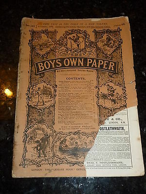 BOY'S OWN PAPER Comic - Part 141 - Vol XIII - Nos 612 too 615 - Date - 11/1890