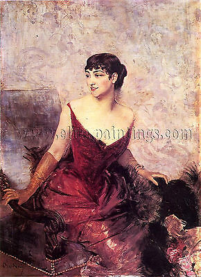 Boldini Giovanni Countess Rasty Seated Armchair artista quadro dipinto olio tela